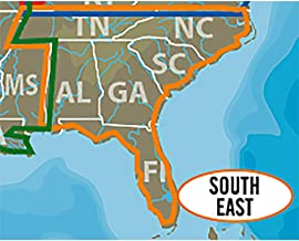 C-MAP LAKE INSIGHT HD – SOUTH EAST US - Coverage Area: AL, FL, GA, NC, SC, TN