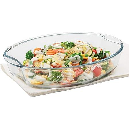 Borosil - Oval Baking Dish Oven & Microwave Safe, Borosilicate Glass, 2.5L