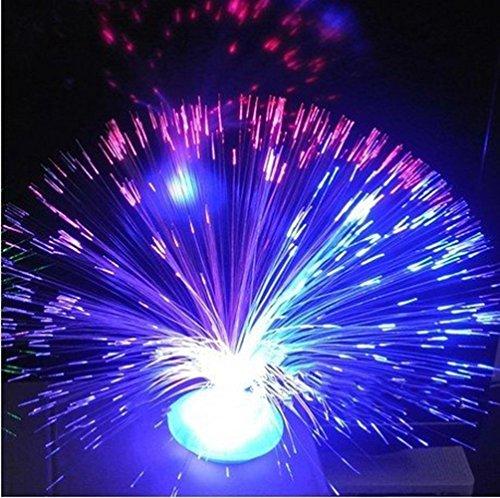 Prochive Fuente óptica Fibras Que cambian de Color, luz Nocturna Colorida, tranquilizadora, Parpadeante, lámpara de Estado de ánimo, Fuego mágico