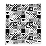 Black and White French Bulldog Throw Blanket Flannel Fleece Blanket Lightweight Warm Blanket for Couch Sofa Bedding Living Room