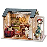Rylai Architecture Model Building Kits with Furniture LED Music Box Miniature Wooden Dollhouse 3D Puzzle Challenge (Z009)