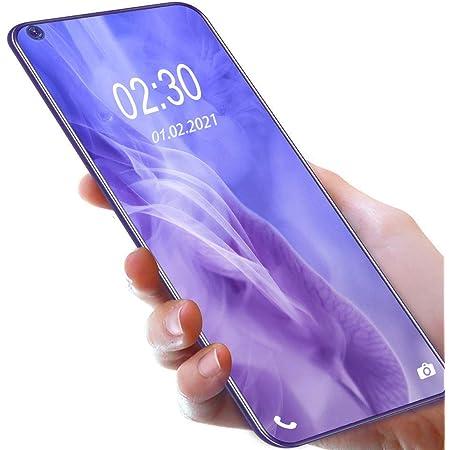 OUKITEL C21 SIMフリースマートフォン Helio P60 Android 10.0 スマホ本体 20MP AI前側カメラ20MP+16MP 4眼カメラ6.4インチ4GB RAM+64GB ROM 4000 mAh携帯電話4GデュアルSIM顔と指紋のロック解除 1年間の保証(紫の)