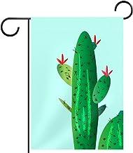 Tuinvlag, CACTI AQUA, seizoensgebonden buitenvlaggen 12 x 18 dubbelzijdige huisplaats decoratief