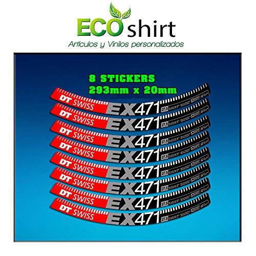 Ecoshirt NN-CIU4-FQSQ Pegatinas Stickers Llanta Rim DT Swiss Ex471 Bike 29