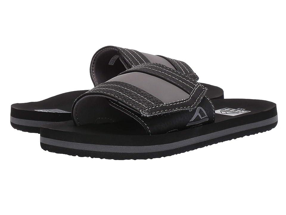 Reef Kids Ahi Slide (Little Kid/Big Kid) (Black) Boys Shoes