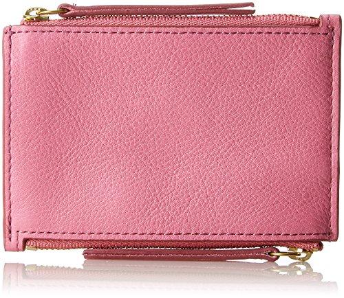 Fossil Damen Taschengeldbörse Mit Doppeltem Reißverschluss Geldbörse, Pink (Pink), 0.97x8.57x12.38 cm