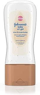 Johnson & Johnson Baby Oil Gel Shea & Cocoa Butter 6.5 Oz (2 Pack)