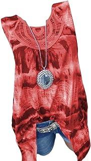 Winwinus Women T-Shirt Casual Swing Tunic Loose Crew-Neck Blouse Top