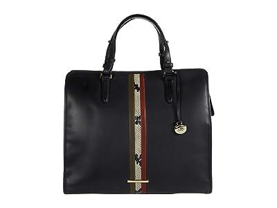 Brahmin Meri Tia Tote (Black) Handbags