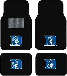 SLS Newly Released Licensed Duke University Embroidered Logo Carpet Floor Mats. Wow Logo on All 4 Mats.