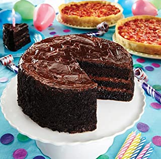 Lezza Chocolate Birthday Cake with 2 Lou Malnati's Deep Dish Pizzas (Chocolate Cake & 2 Sausage Deep Dish Pizzas)