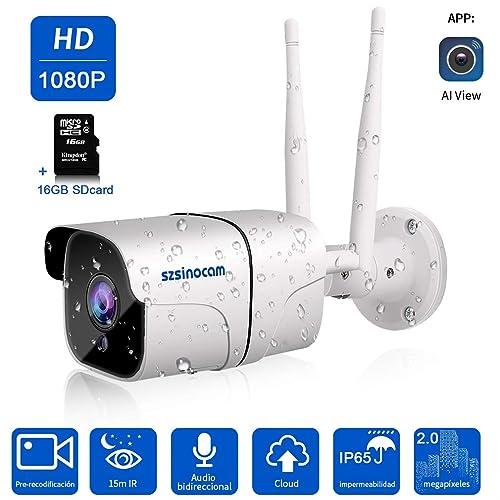 Cámara 1080P Vigilancia IP Cámara WIFI,SZSINOCAM cámara ip Smart Home Cámara con visión nocturna
