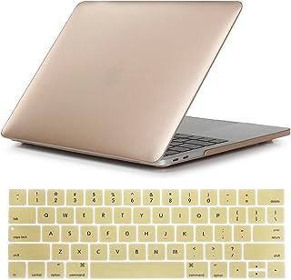 Se7enline - Funda rígida para MacBook Pro de 16 Pulgadas (2019, plástico para MacBook Pro de 16 Pulgadas, A2141 con Touch Bar ID con Cubierta de Teclado de Silicona, Dorado, 15 Pulgadas