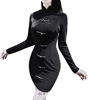 Topassion Gothic Black Hooded Dress
