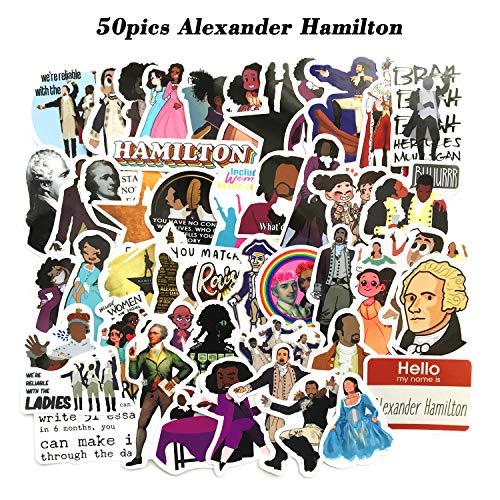 YCYY 50 Piezas del Musical de Broadway Alexander Hammie Maleta teléfono Celular Casco de Coche Pegatina Impermeable