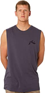 Rusty Men's Competition Mens Muscle Crew Neck Cotton Soft