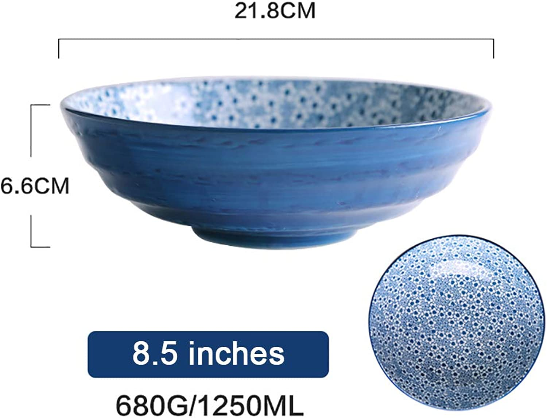 Vaisselle En Céramique De Style Japonais Bol Domestique Bol à Soupe Bol à Riz Bol à Dessert Bol à Nouilles Bol, Lave-vaisselle Et Micro-ondes ++ (Couleur   8.5 inches-B)