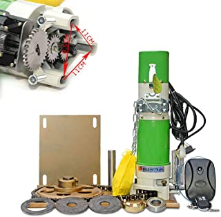 Automatic Opener Kit, 370W 110V Heavy Duty Electric Rolling Door Side Motor Heavy Duty Operator Kit for Roller Shutter, Garage and Industry Door - 600kg - US Shipping