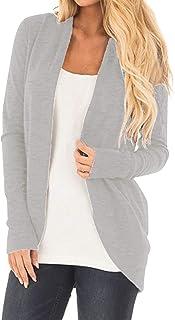 CNFIO Donna Giacca Blazer Cardigan Elegante Moda Manica Lugna