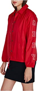 OBEY Giacca Varsity 225001332 Red Core Vertical Coaches fw