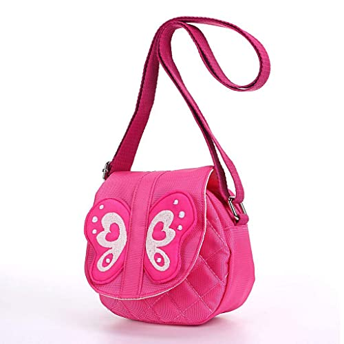 abee37db8bcc Hipiwe Kids Crossbody Purse Bag Pink Butterfly Mini Messenger Shoulder  Purse Handbag with Strap