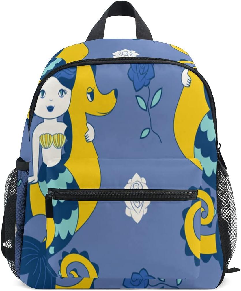 Backpacks Pattern Mermaids Sea safety Horses For Roses Boys Manufacturer direct delivery Backpack Gi