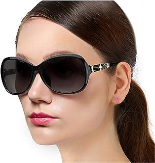 Protineff Lentes de Sol de Moda para Mujer, Gafas de Sol Polarizadas Clásicas con Protección 100% UV, Anteojos de Señoras para Conducir
