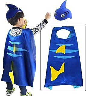 Dough.Q Disfraces Niño Carnaval Capa De Tiburón Niños Y Disfraces De Disfraces para Fiesta, Cosplay Disfrazarse con Máscara para Niños