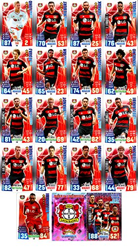 Match Attax Bundesliga 2015 2016 - Karten-Set Bayer 04 Leverkusen Cap Viererkette Clubkarte - Deutsch