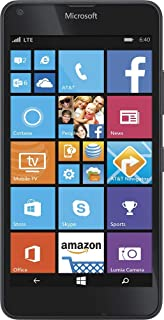 Lumia 640 4G LTE Smartphone, 6764A with 8GB Memory Cell GoPhone - Black - Compatible with Microsoft Nokia 8.1 Phones -Carrier Locked to AT&T Wireless