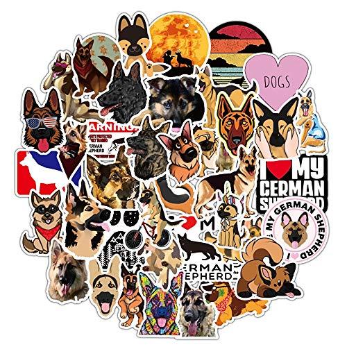 LSPLSP German Shepherd Dog Cartoon Stickers DIY Luggage Guitar Skateboard Cool Stickers Classic Toy For Kid Gift Decak Sticker 50Pcs