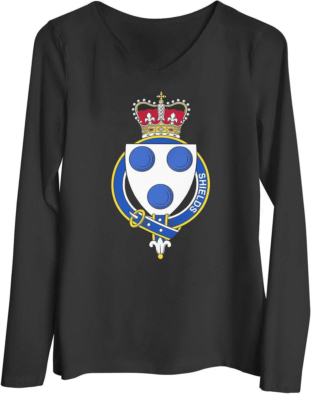 HARD EDGE DESIGN Women's English Garter Family Shields T-Shirt