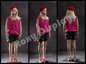(MZ-SK02) ROXYDISPLAY™ Realistic Child Mannequin. Fiberglass Construction. Base Included.
