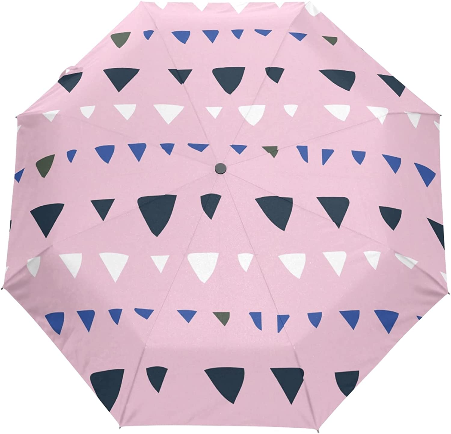 Pink Black White Triangle Sun Dealing full price reduction UV Parasol Outd Women Seasonal Wrap Introduction Umbrella for