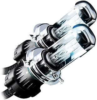 GENSSI HID Xenon Replacement Light Bulbs H4 9003 Bi-Xenon Low/Hi 6000K Super White (Pack of 2)