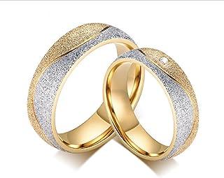 Coppia Fede Nuziale placcato oro 18kt Fedina da 3g Gold Plated 18k Wedding Rings