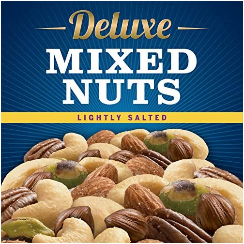 Planters Deluxe Lightly Salted Mixed Nuts (15.25 oz Canister) | Variety Mixed Nuts with Cashews, Almonds, Hazelnuts… 5