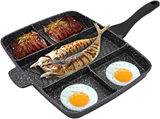 Ejoyway 5 section Pan Non-Stick Divided Grill/Fry/Oven Meal Skillet, 15x11.8