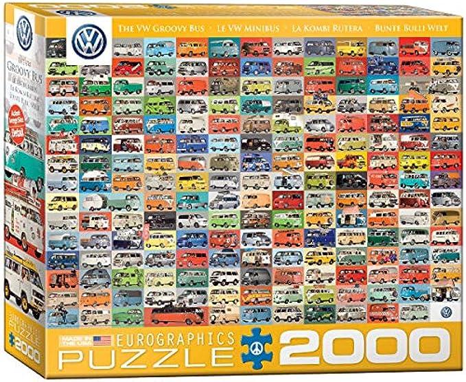 EuroGraphics Volkswagen Groovy Bus Collage Puzzle (2000 Piece)
