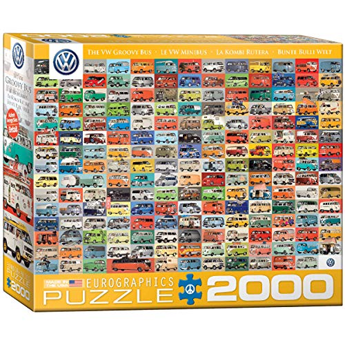 EuroGraphics 20.878,8–1.988,8cm Volkswagen Groovy Bus Collage Puzzle (2000)