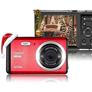 Vmotal 12 Mega Pixels 2.8 inch LCD Rechargeable HD Digital Camera,Video Camera Digital Students Cameras,Indoor Outdoor for Adult/Seniors/Kids (Red)