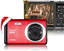 Vmotal 12 Mega Pixels 3.0 inch LCD Rechargeable HD Digital Camera,Video Camera Digital Students Cameras,Indoor Outdoor for Adult/Seniors/Kids (Red)