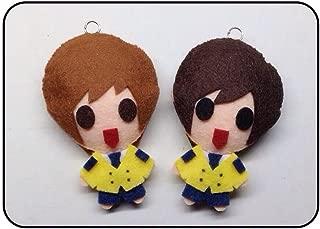 Boyfriend Youngmin + Kwangmin - SOPA School Uniform KPOP Handmade Doll Keychains