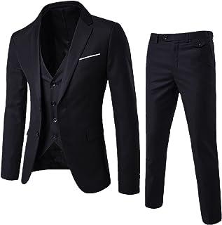 WEEN CHARM Mens Suits 2 Button Slim Fit 3 Pieces Suit