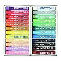 Giotto Pastelli Ad Olio In Astuccio Da 24 Colori & Acquerelli In 24 Colori, Pastigle Da 30Mm, Con Pennello #2