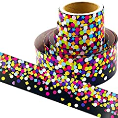 """WHAT YOU GET - Rolled confetti borders. 36 ft. x 3"""". Cardstock. Shrink-wrapped. CLASSROOM SUPPLIES - Perfect for decorating bulletin board, doors, windows, chalkboard, whiteboard and more! WELCOME DESIGN - Use these borders to welcome the students ba..."""