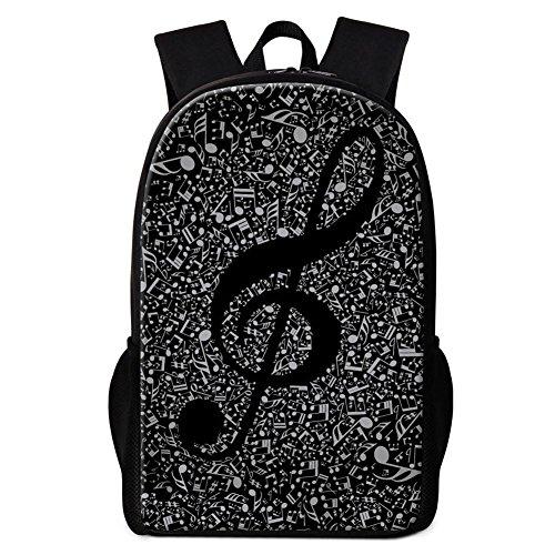 Dispalang Pretty Music Note Print - Mochila Escolar para Niños y Niñas