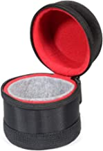 WGear Semi-Hard Case for DSLR Camera Lens (Canon, Nikon, Sony, Pentax, Olympus, Panasonic,etc, Listed with Model Details Below), Small Size with Carabiner, Lens Cleaning Wipe (Black Small)