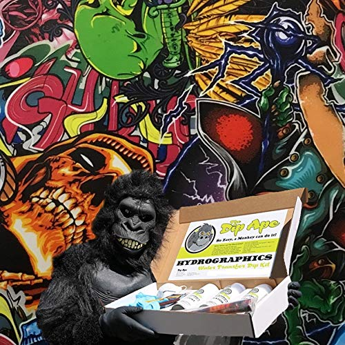Hydrographic Film Dip Ape Zombie Pop Sticker Bomb Hydrographics Water Transfer Hydro Dip Dipping Kit