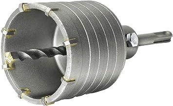 S&R Couronne Scie Trépan Carotteuse à Sec Ø 68mm + Adaptateur SDS Plus 110 mm + Foret de Centrage 8x110mm